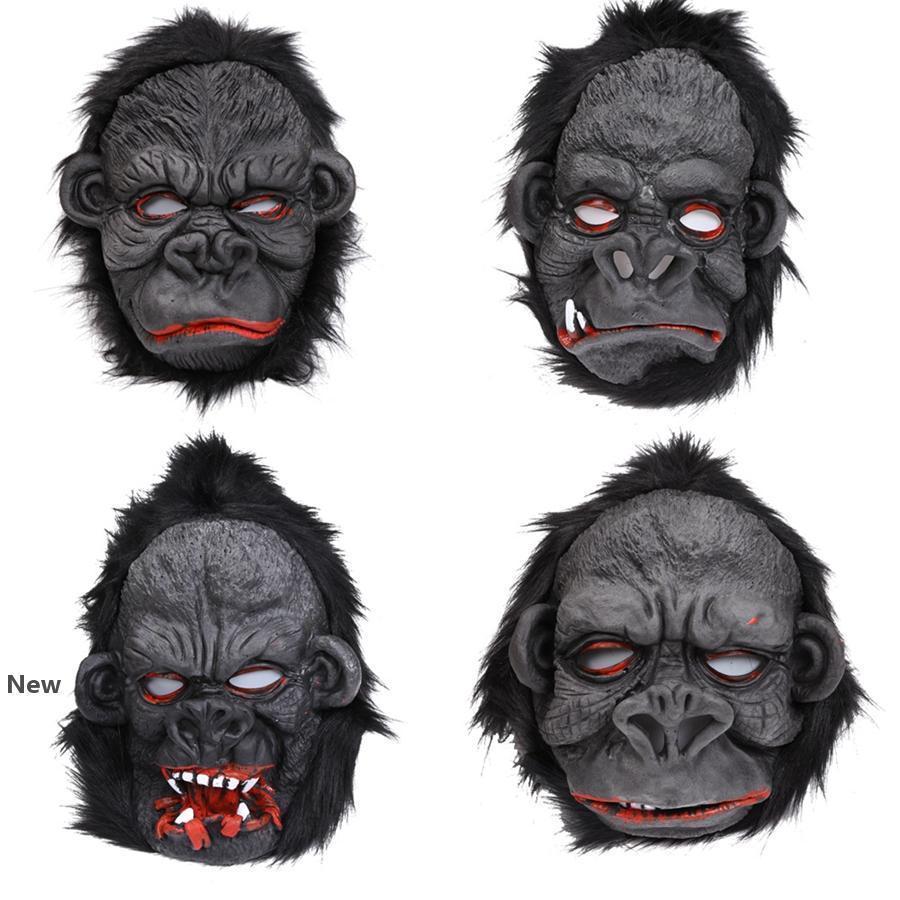 أورانجوتان قناع هالوين مخيف القرد قناع الرعب سيليكون تأثيري أورانجوتان قناع أورانجوتان القدم زي حزب العرض