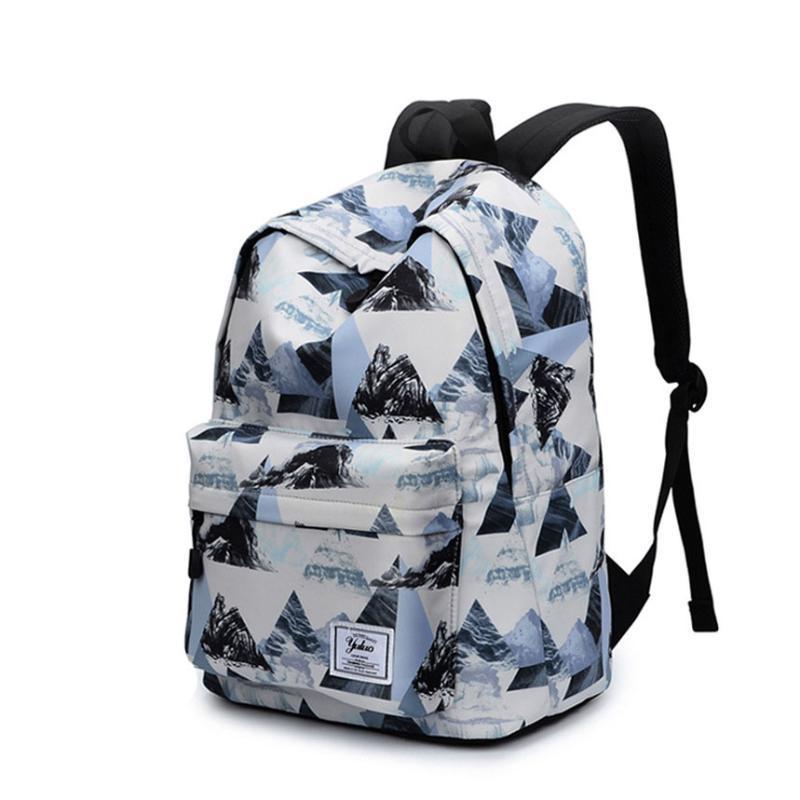 Backpack Fashion Flower Pattern Woman Female Large Capacity High SchoolBag For Teenager Waterproof Nylon Women Mochila