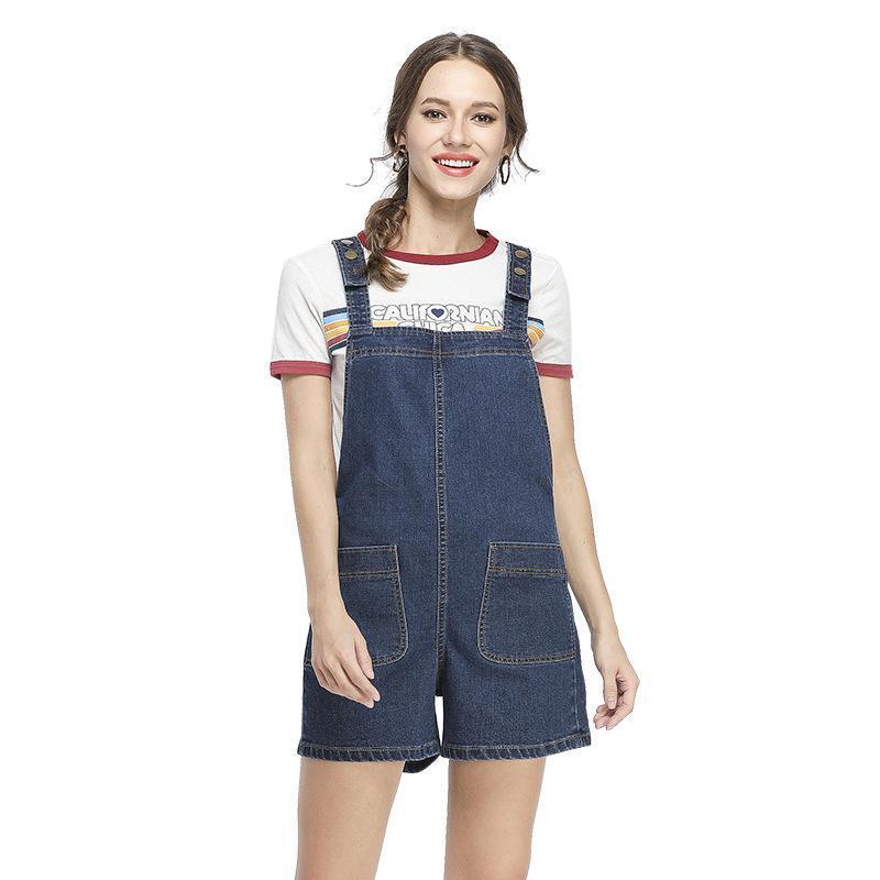 Women's Jeans Girls Casual Romper Women Short Playsuits Pocket Summer Overall Plus Size Black Blue Grey Denim Jumpsuit Femme 6XL 7XL 8XL