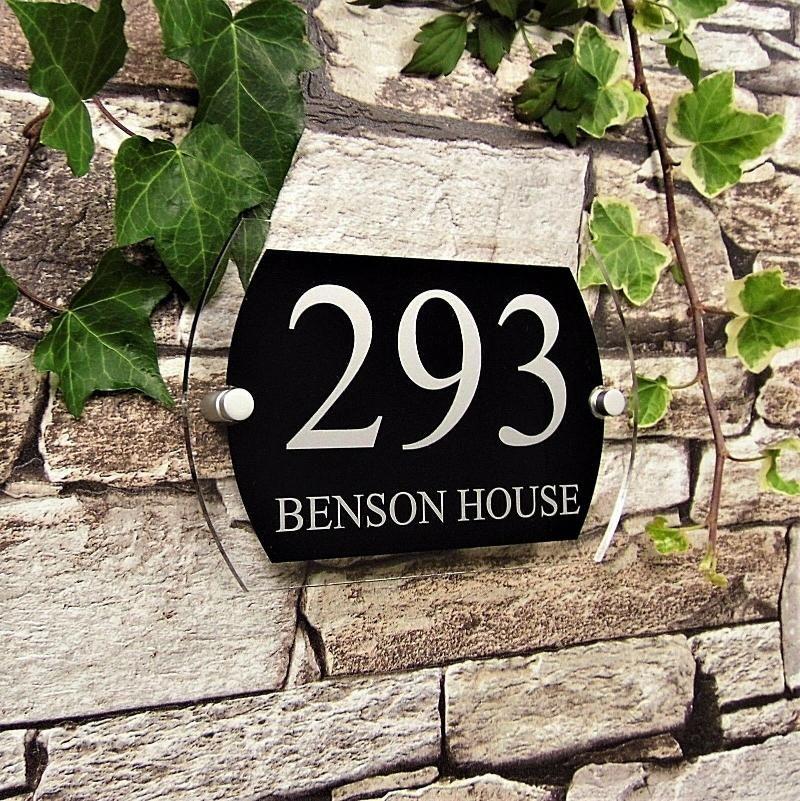 현대 집 번호 플레이트 주소 야외 스티커 도어 플라크 거리 검은 유리 효과 다른 하드웨어