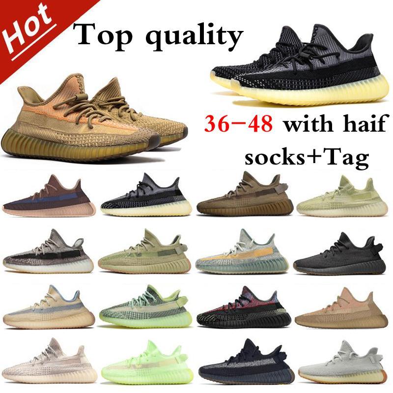 3m Running Shoes Running Top qualidade com caixa e bolsa de mão para presente 2021Hotest Mens Mens Cinder Zebra Cauda luz Israfil tamanho estático 36-48 com metade