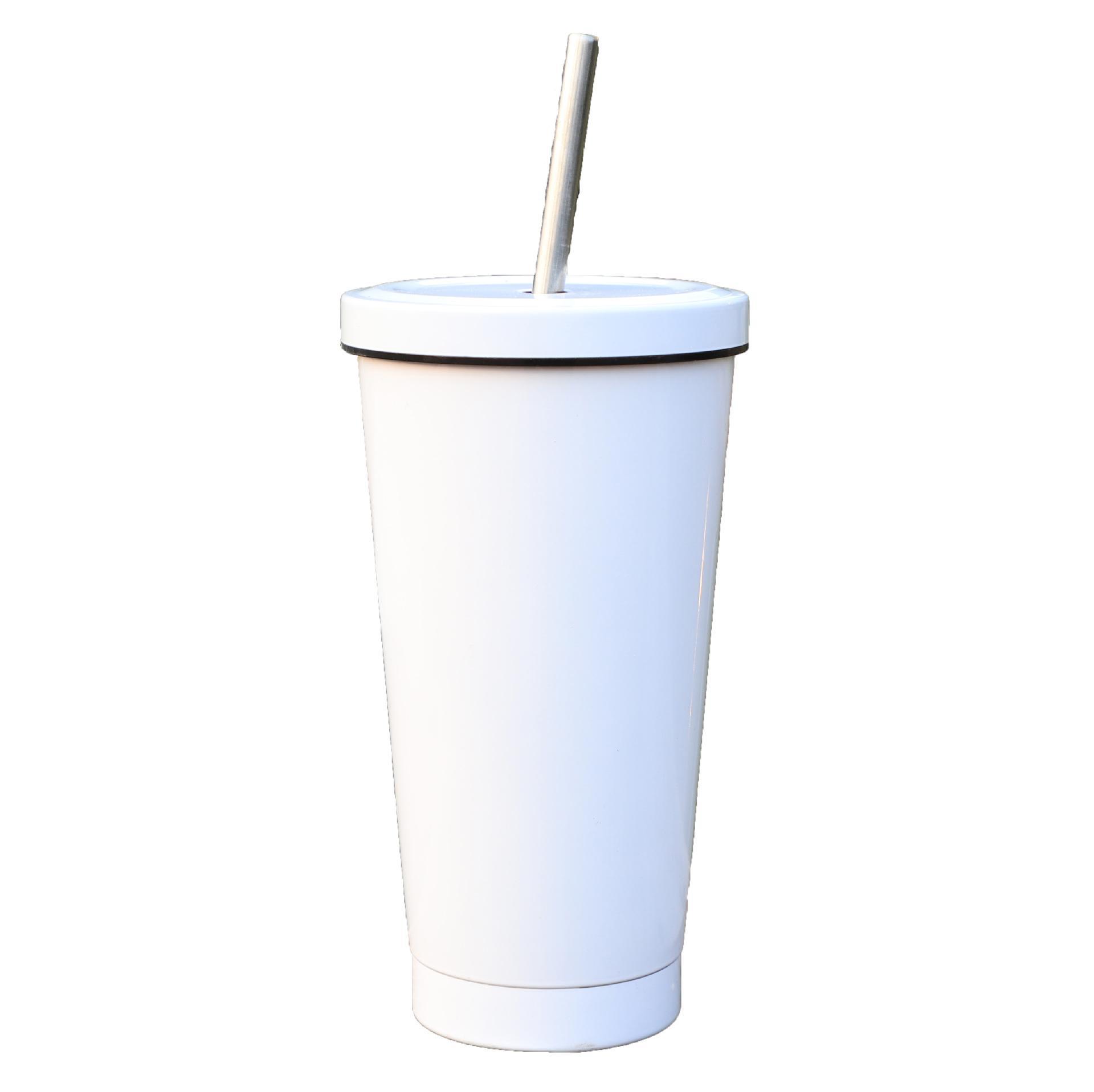 Simple couleur pure tasse de café tasse d'étudiant gobelets en acier inoxydable bouteille isolée sous vide 5 couleurs T500537