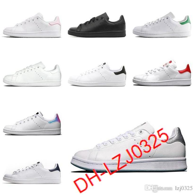 2021 Stan Smith Boots Hombre para mujer Zapatos casuales Tripler Black Laser Plataforma Golden Fashion Deportes Deportes Deportes Entrenadores planos 36-44 DHX-H87