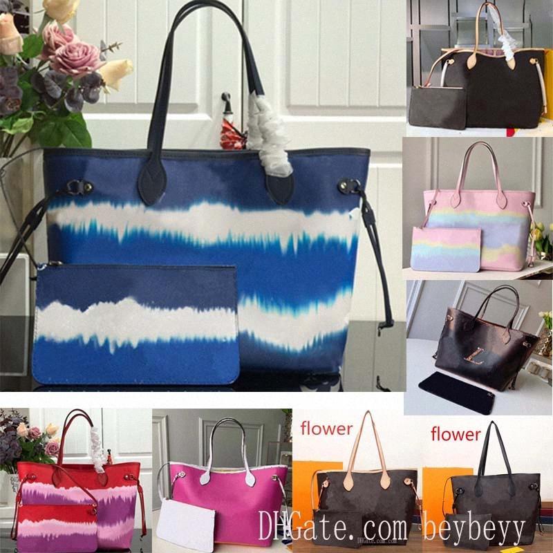 21 ألوان أبدا حقيبة تسوق قديم زهرة المرأة مم كبير قماش كتاب حقائب اليد رسول حقيبة يد كامل LV مع الحقيبة