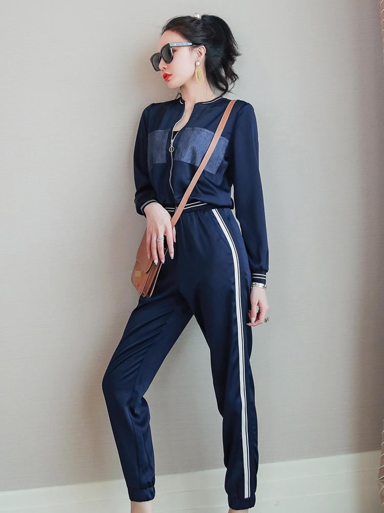 Moda feminina conjuntos 2021 pista de decolagem europeia festa estilo roupas de duas peças calças