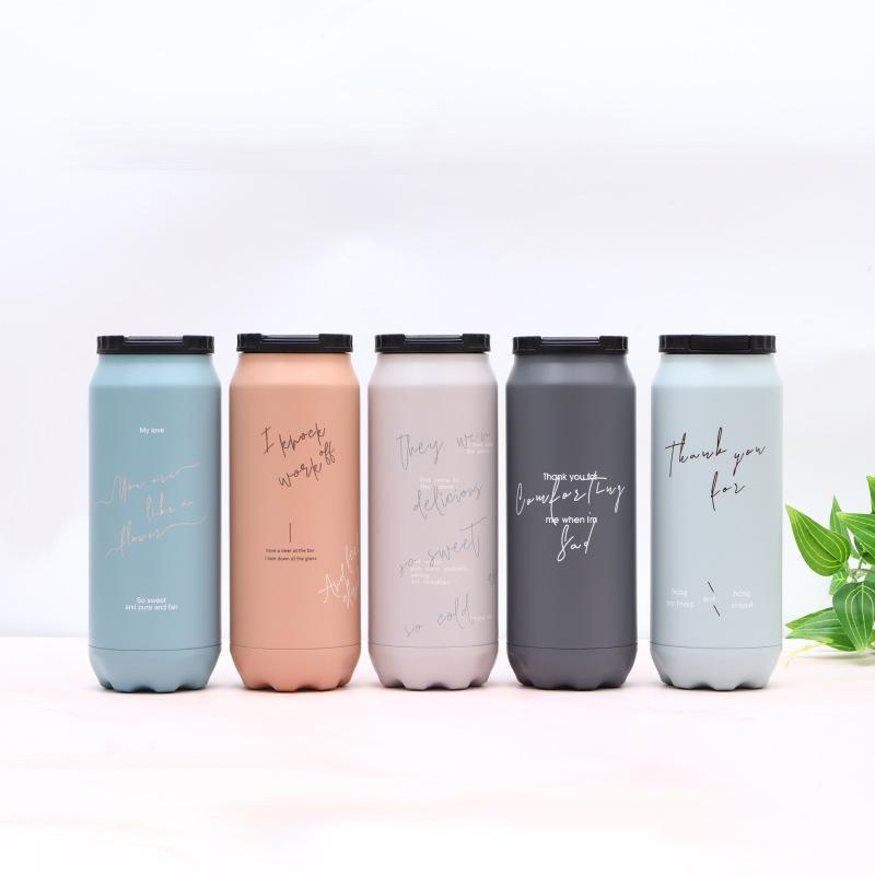 17oz Vacuum Insulated Water Bottle Stainless Steel Double Wall Cup Fashion Large Capacity Tumbler Outdoor Travel Car Mug