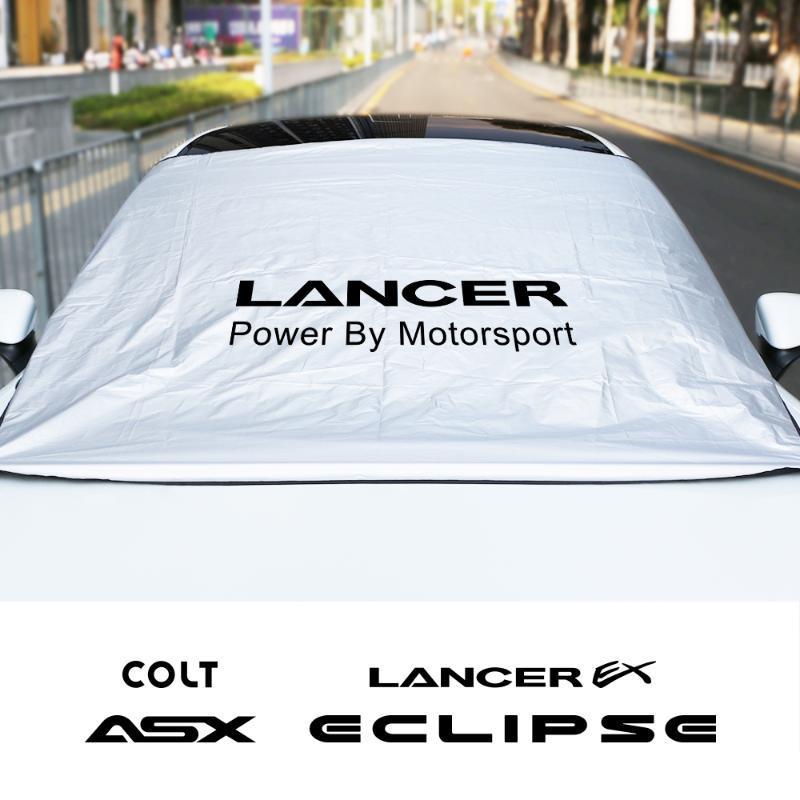 자동차 태양 음영 커버 미쓰비시 Asx Lancer에 대한 앞 유리 Sunshades colt colt l200 자동 프론트 창 바이저 액세서리 Sunshade
