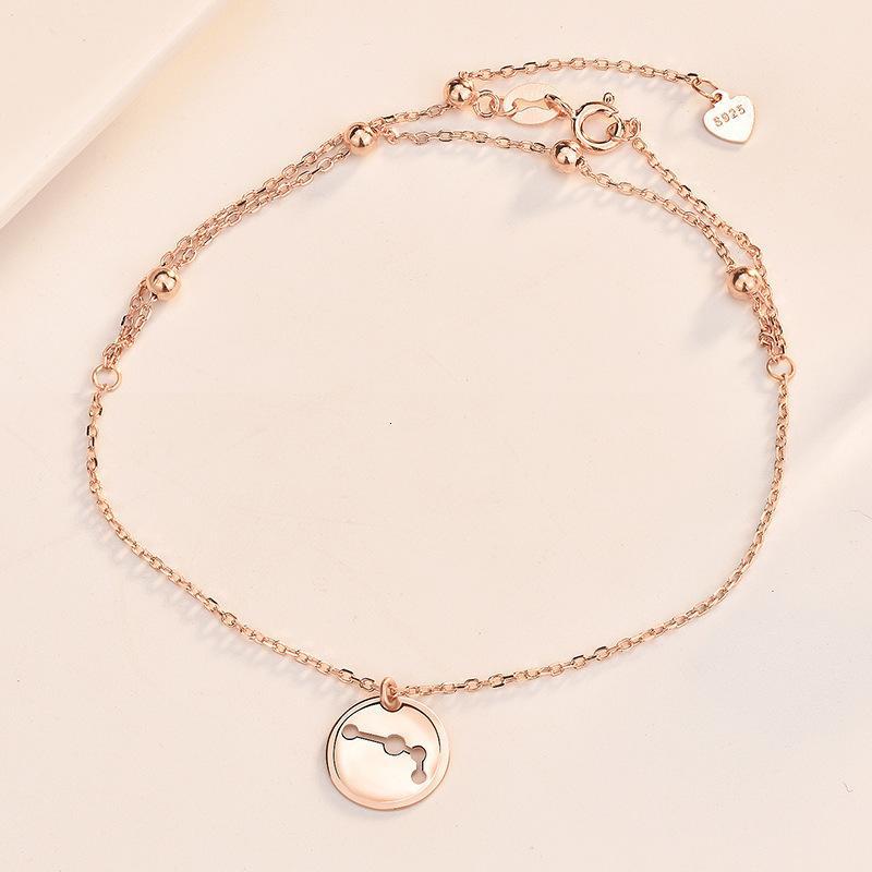 Los anillos de compromiso de los pendientes del diseñador, las pulseras y los collares de oro son favoritos de las mujeres brazaletes de encanto Liming S925 Silver Beidou estrella doble capa para mujeres