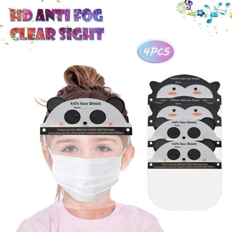 Isolement masques de dessin animé masque pour enfants poussière 4pc perspective coupe-vent coupe-côte de visage couvercle de visage de visage d'extérieur