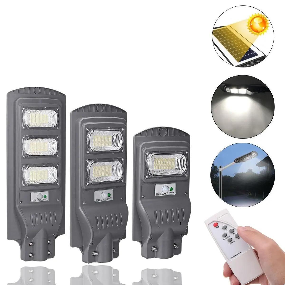 117/234/351 Lámpara exterior del sensor de movimiento de la luz de la calle LED de la calle Solar LED con el control remoto - 117