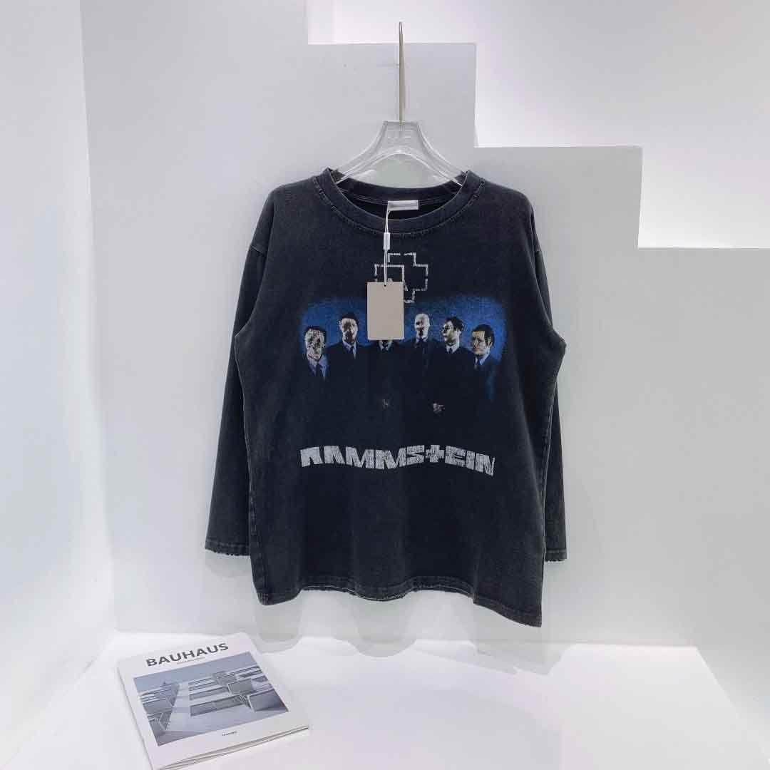 2021ss Spring and Summer NOUVEAU Coton de haute qualité Impression à manches courtes Panneau rond T-shirt T-shirt Taille: M-L-XL-XXL-XXXL Couleur: Black Whinse1 5fds