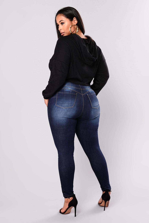Taille des femmes Taille Casual NY Denim Fat Mom Jeans L-5XL Haute Qualité Prix de gros