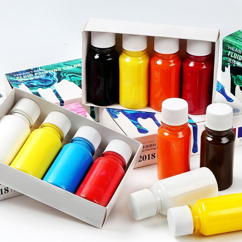 75ml Pigment Pittura acrilica Set di vernice ART fluido pittura acrilica per pittura artigianato versando tela media per pittura olio disegno fai da te
