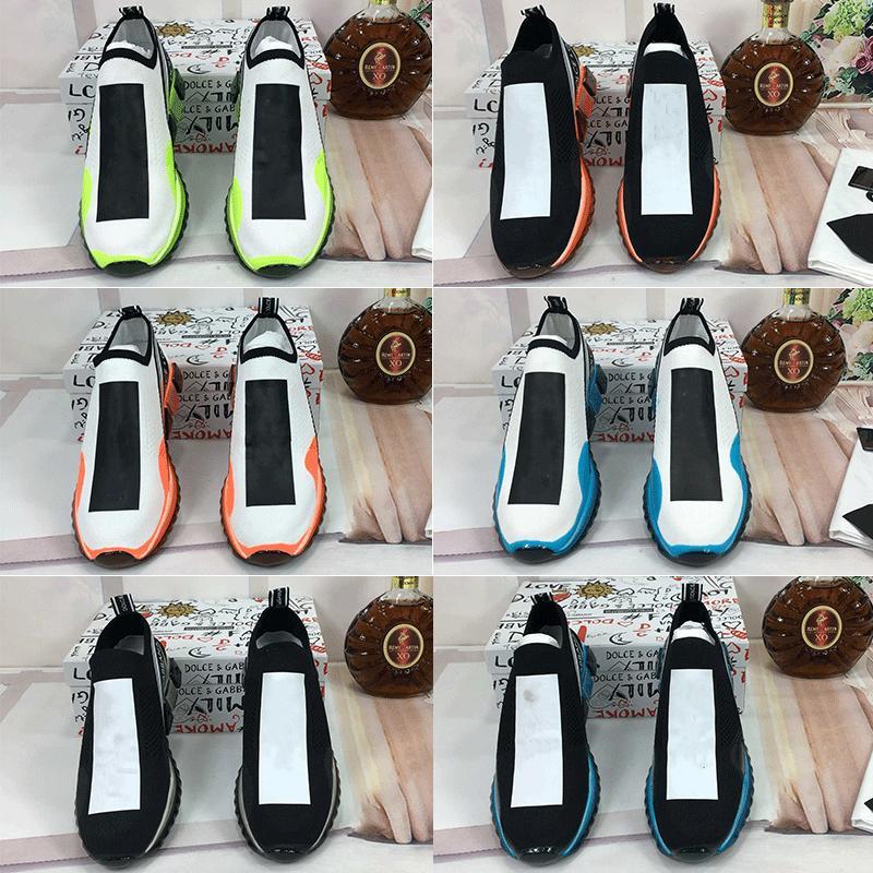 2021 Tasarımcı Unisex Bayan Erkek Sneakers Rahat Mesh Ayakkabı Sarı Kadınlar Mavi Erkekler Çorap Ayakkabı Çizmeler 35-46 U2ZB #