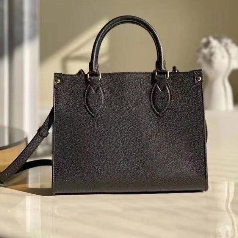 حقيبة يد جديدة فاخرة الرجعية 3a الكلاسيكية ماركة 25 سنتيمتر سوداء حقيبة تسوق جلدية كبيرة جودة عالية حقيبة يد سيدة حقيبة الكتف