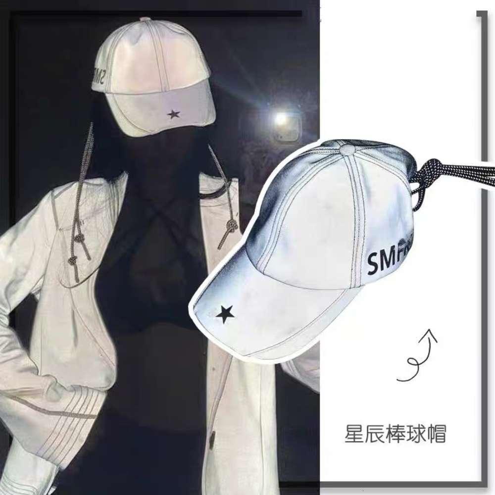 Cap Coréen Automne et Summer Pentagramme Pentagram Casquette de baseball lumineuse