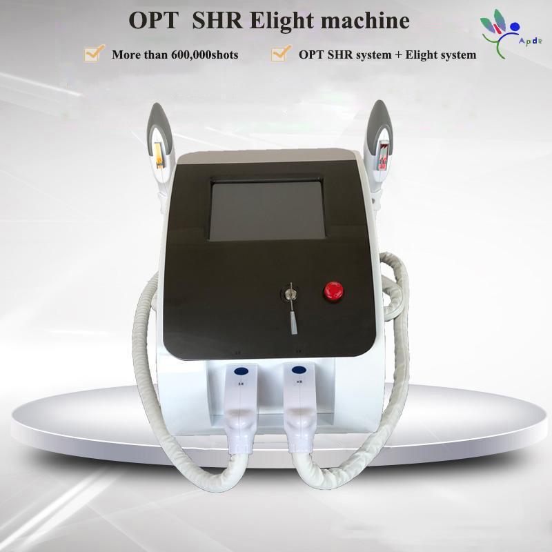 Dispositif de traitement de l'acné de la machine de beauté ipl Dispositif de traitement d'acné 2 poignées SHR 600000SHOTS
