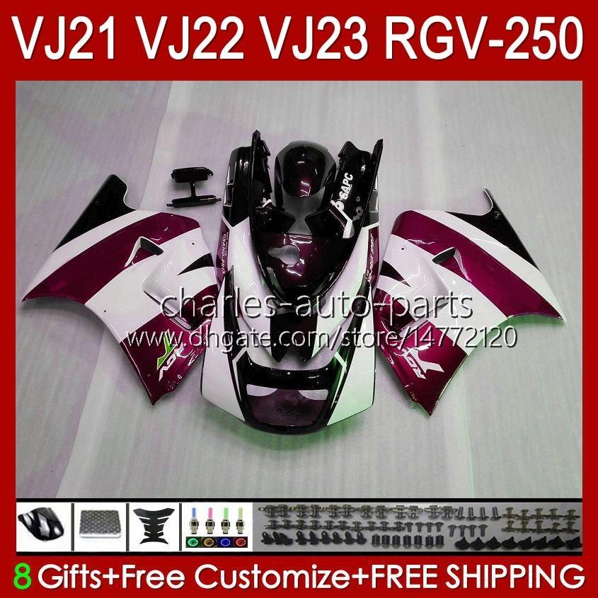 Bodys für Suzuki RGVT RGV 250cc 250 CC RGV-250 Panel RVG250 20HC.131 RGVT-250 90 91 92 93 1994 1996 1996 RGV250 SAPC VJ22 1990 1991 1992 1993 94 95 96 Verkleidungen Wein rot neu