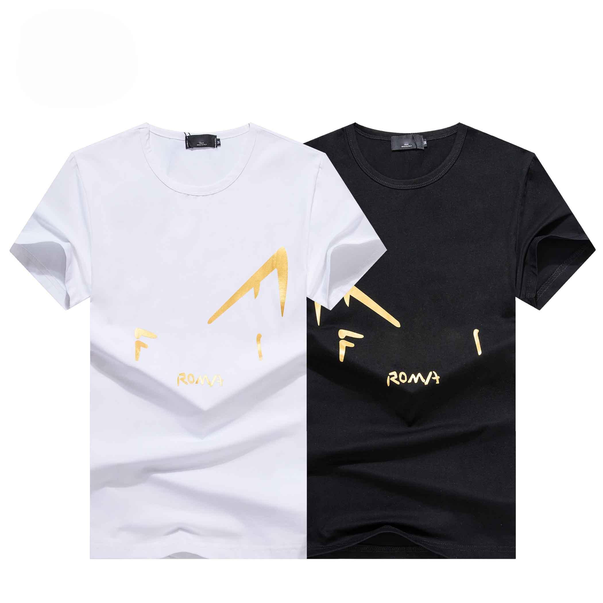 Maglietta di moda 19s Europa Italia Francia T-shirt di alta qualità T-shirt hip-hop Metallo Design in metallo Uomini e donne Casual Designer di cotone Top