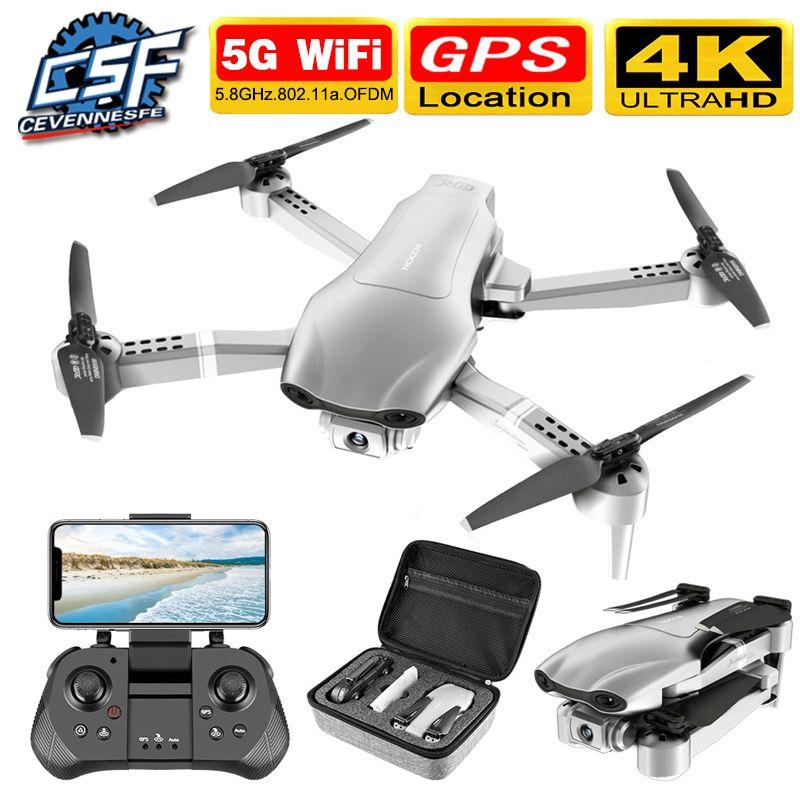 Cevennesfe Новый F3 Drone GPS 4K 5G Wi-Fi Live Video FPV Quadrootor Flight 25 минут RC Расстояние 500 м Дроны HD широкоугольный 210325