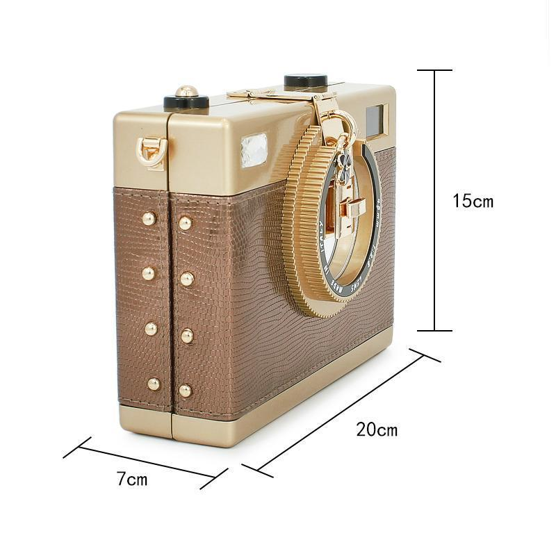 Akşam Çanta Yaz Çanta Kişilik Kamera Şekli Omuz Kızlar Moda Zinciri Kadın Messenger S (C390) 1 TR29