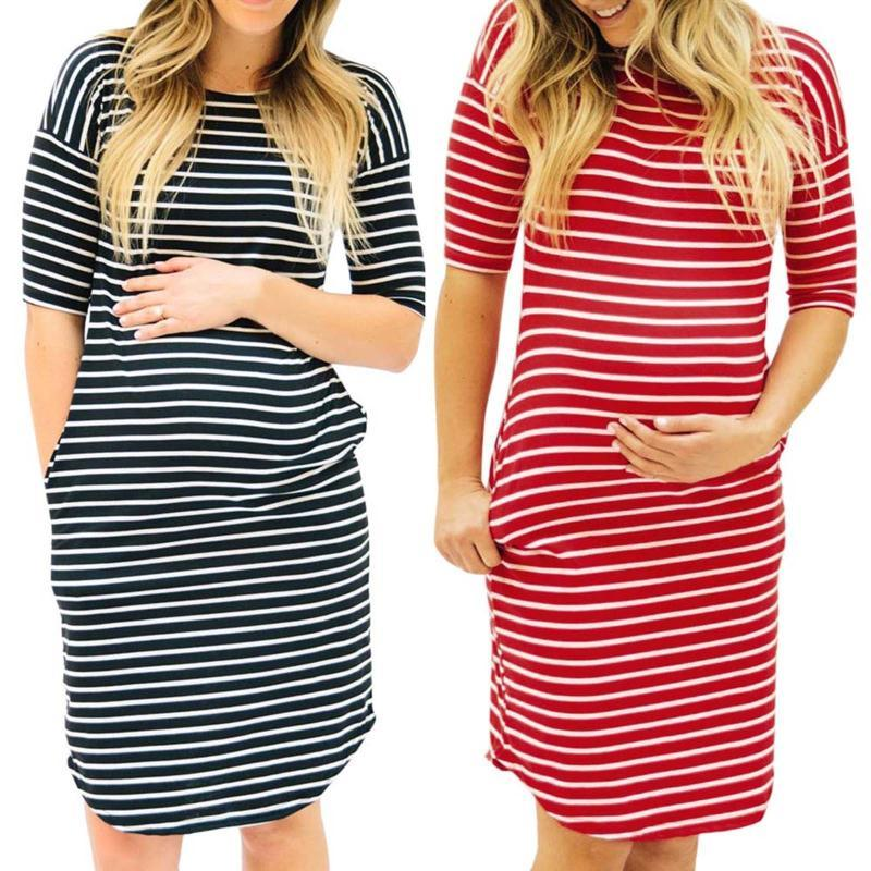 الحوامل الفساتين إمرأة س الرقبة شريطية قصيرة الأكمام التمريض نوم بيجاما ملابس الحمل الأمومة