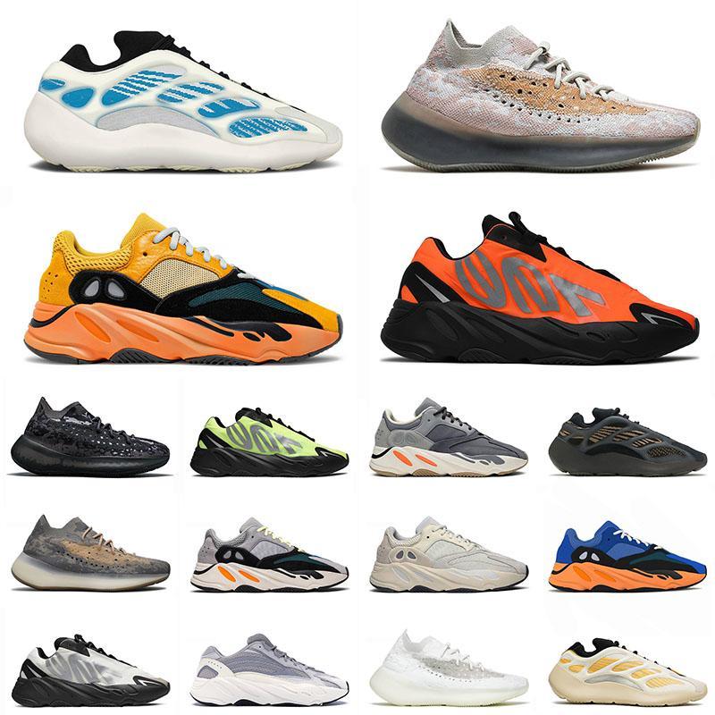 adidas yeezy yeezys boost 700 v2 v3 380 En Kaliteli Kyantie 700 Spor Koşu Ayakkabıları Erkek Kadın Güneş Turuncu Parlak Mavi Yulaf Vanta Koşucular Alien Eremiel Azael Trainers