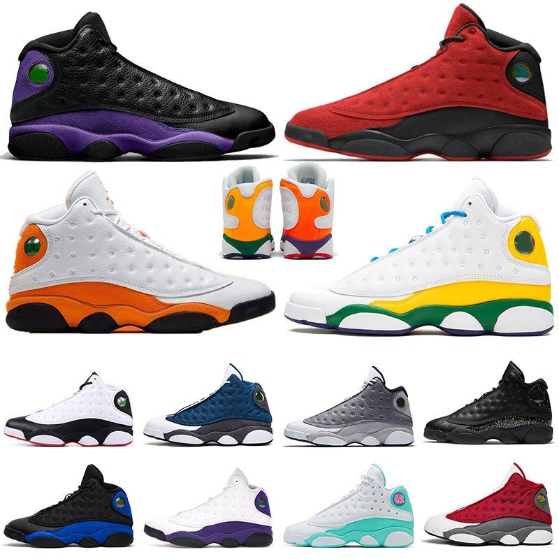 Nike Air Jordan Retro 13 Jumpman 13 13s Masculino Feminino Tênis de basquete Playground Hyper Royal Starfish Quadra reversa Roxo Sports Outdoor Tênis Trainer