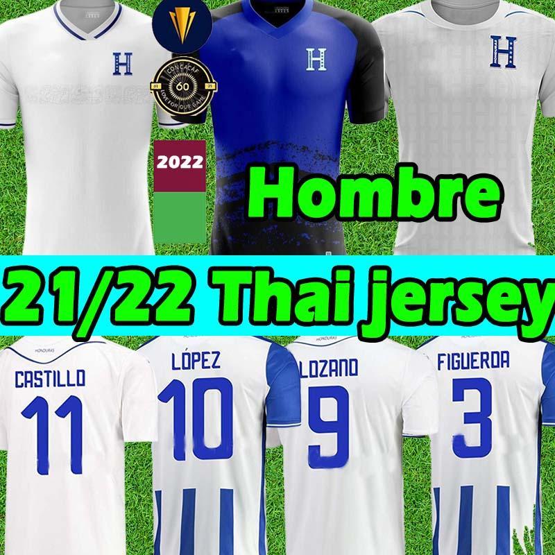 2021 2022 República de Honduras Futbol Formaları Republica 11 Castillo 6 Garcia Formalar 9 Lozano 7 Izaguirre 13 Maliyetli 21/22 Hombre Camisetas De Fútbol Futbol Gömlek