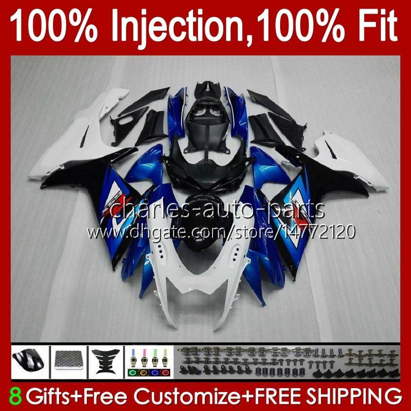 Injeção para Suzuki GSXR-750 GSXR600 GSXR 600 750 CC 10HC.21 Blue lustroso GSXR750 11 12 13 14 2015 2016 2017 K11 GSXR-600 600CC 750CC 2011 2012 2014 15 16 17
