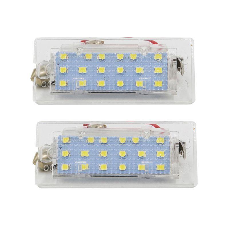 Luz de trabalho 2 pcs White Canbus LED Número da Lâmpada da placa da licença 18 SMD 3528 para E53 x5 1999-2003 E83 x3 03-10 781b