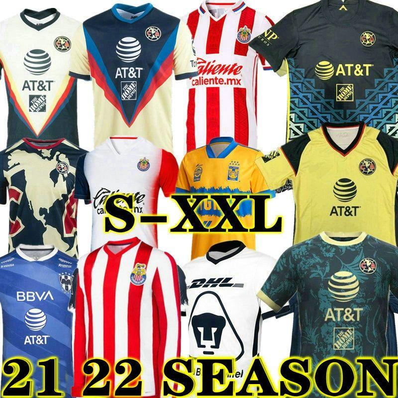 21 22 Club America Soccer Jerseys 2021 2022 Xolos de Tijuana Tigres UNAM Guadalajara Chivas 115th Anniversary Cruz Azul Jersey Football Shirts