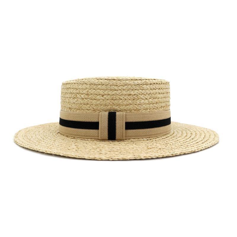 Cinto ráfia palha verão sol viseira chapéus para mulheres senhora moda dobrável boné handmade breim pano de praia