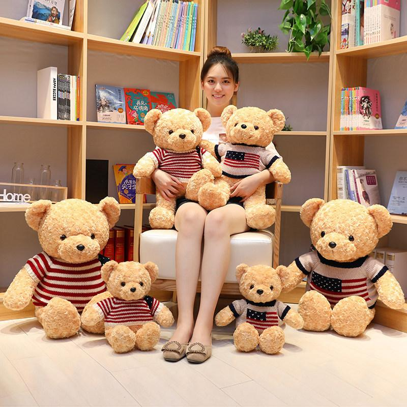 40cm 50cm 파티 호의 부드러운 테디 베어스 봉제 인형 동물들이 곰 인형 어린이를위한 Bowtie 키즈 장난감으로 인형 생일 선물 장식