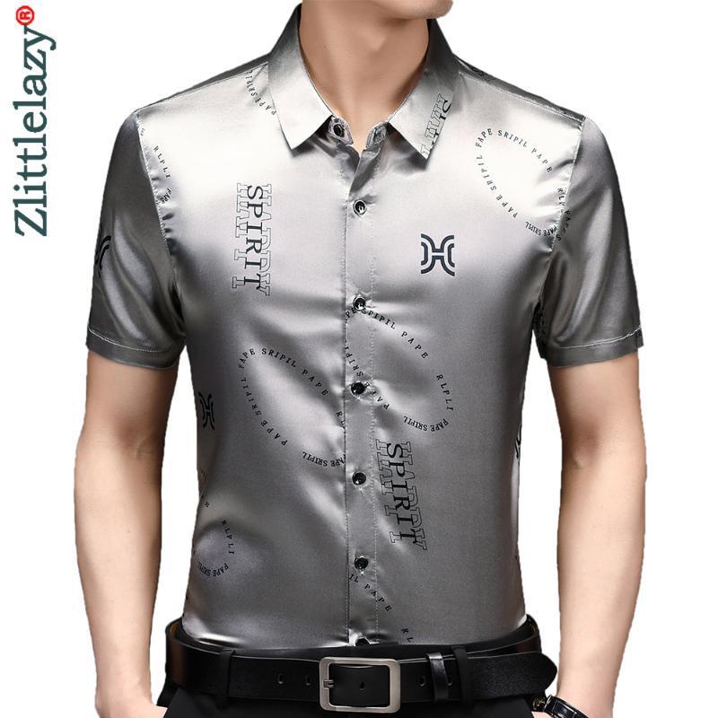 Männer Casual Hemden 2021 Designer Brief Herren für Männer Kleidung Koreanische Mode Sommer Kurzarm Hemd Luxus Kleid Kleidung Jersey 65
