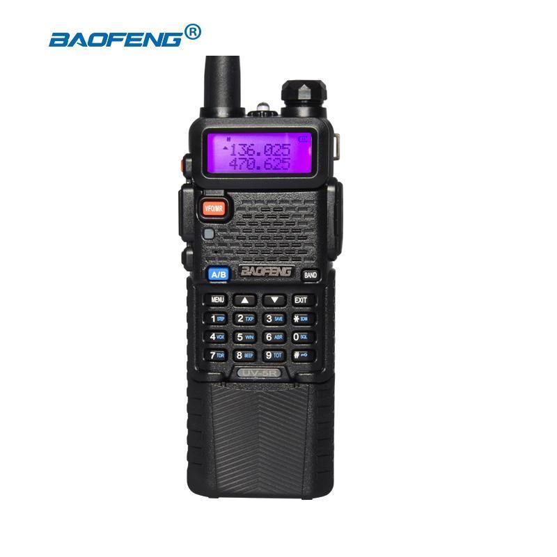 Baofeng UV-5R 5W Walkie Talkie Professional CB Radio UV 5R 3800mAh Battery VHF UHF Portable Prosciutto