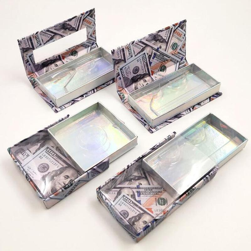 Mink Cils Box Dollars US Dollars Emballage Emballage vide sans argent Emballage