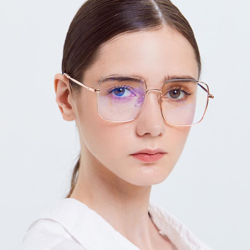 Vintage Clear Glasses 2021 PC Lenses Copper Frame Eye For Women Square Glass Box Packing LX130 Sunglasses