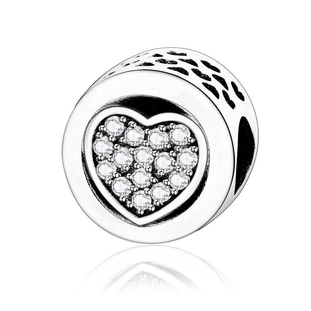 Nouveau Style Love Heart Beads Sterling Fit Authentic Pandorre Charms Bracelet Argent 925 Original Femmes Bijoux Berloques