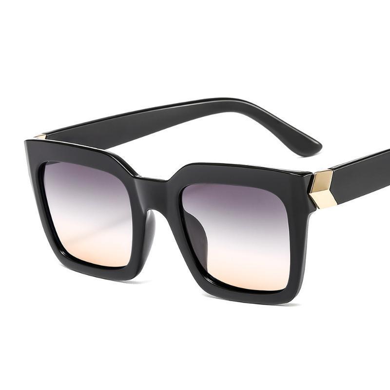 Moda personalidade óculos de sol cor quadrada seta homens e mulheres selvagem louro senhora óculos