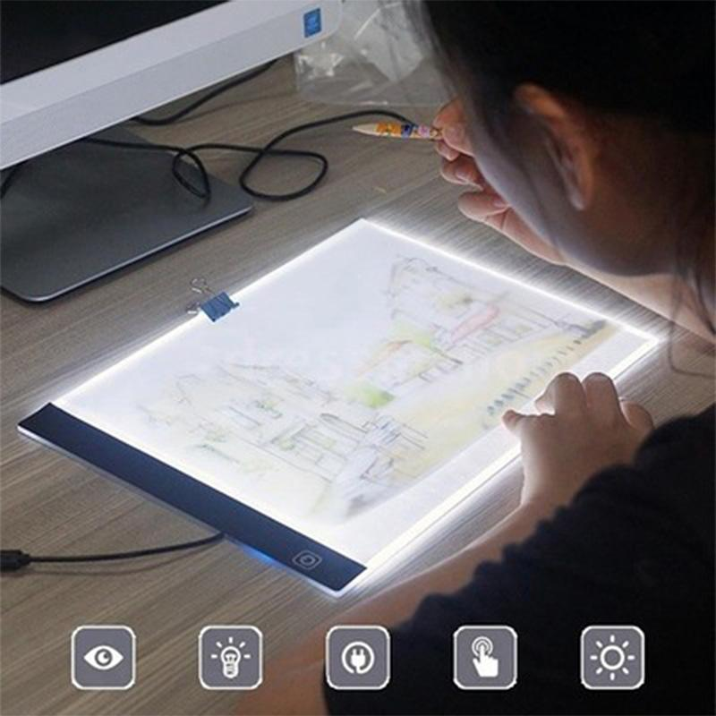 A4 LED Light Box Tracer Digital Tablet Gadget Graphic Tablets Writing Painting Drawing Ultra-thin Tracing Copy Pad Board Artcraft