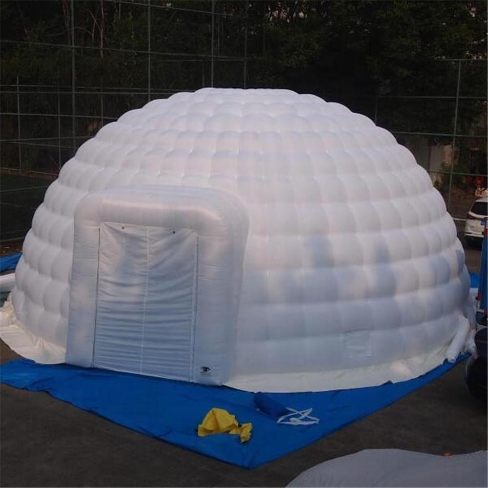 8m Advertisng Oxford Inflatable Igloo Dome Tent Trade Show Shelter With Zipper Door Cover Air Structure Building For Event Can be customized