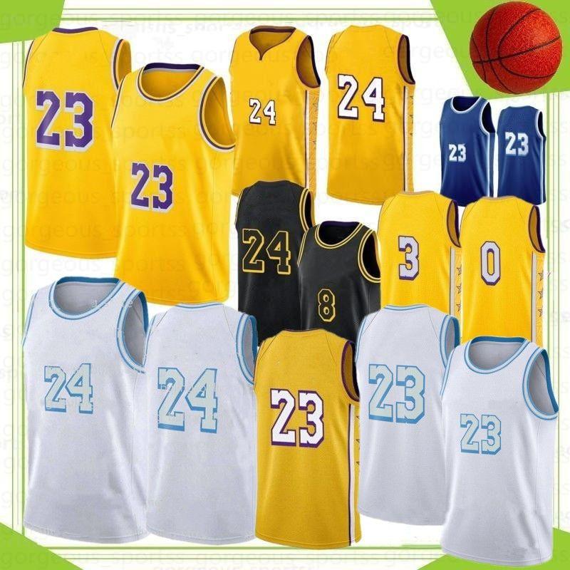 NCAA LeBron 23 James University Basketball Jerseys Anthony Kyle 3 Davis 32 Johnson Men Jersreys Stock S-XXL 2021 New