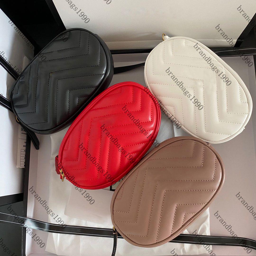 Diseñadores de lujo Cuero genuino Marmont Bolsas de cintura Bolsa Bombag Bolso Fanny Pack Ejecutar Cinturón Cinturón Bolsa de jogging Bolso Monedero Moda Moda Real Magnina de Piel de Vaca