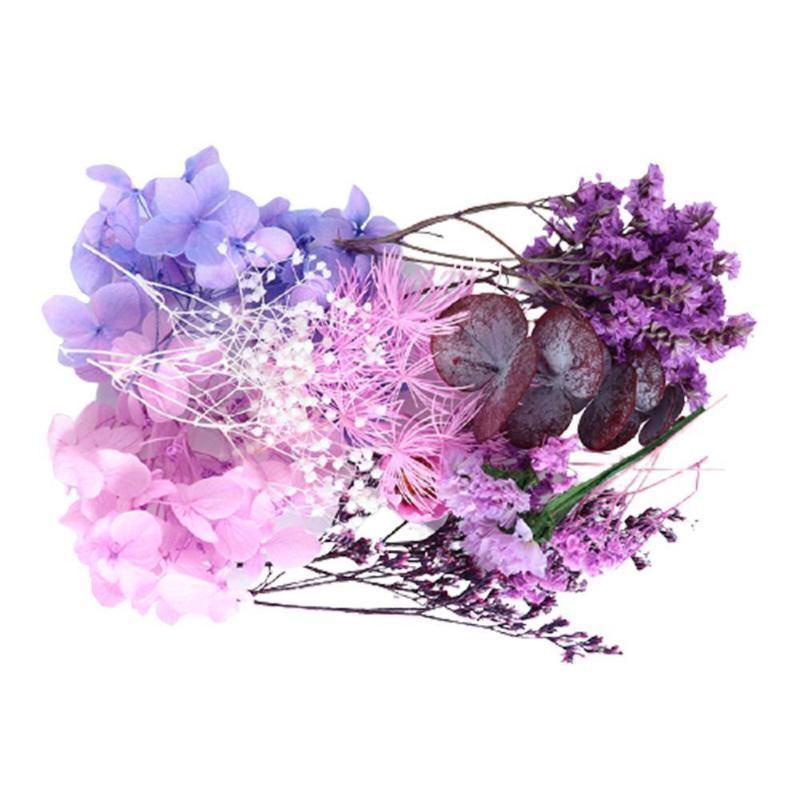 Real Boxed Secado Flor Material Saco Planta Epoxy Pingente Partido De Mesa / Colar De Casamento Artesanato Decoração Decoração ACC D8D5 Decorativo