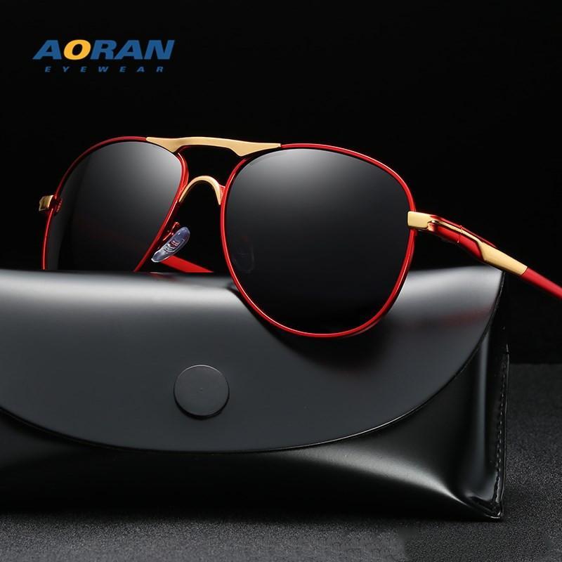 النظارات الشمسية التصميم الطيار الأصلي uv400 الزجاج العدسات الرجال النساء النظارات الشمسية des lunettes de soleil الحالات الجلدية الحرة الملحقات