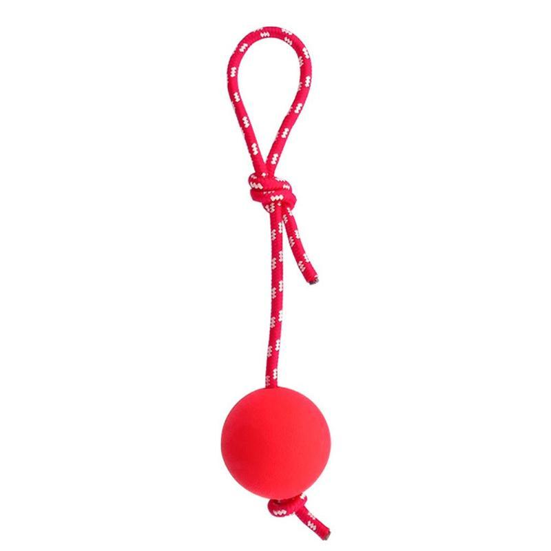 Cat Toys Natural Rubber Dog Toy Ball On A Rope Reward For Pet Training/Playing/Chewing Solid Tooth Cleaning