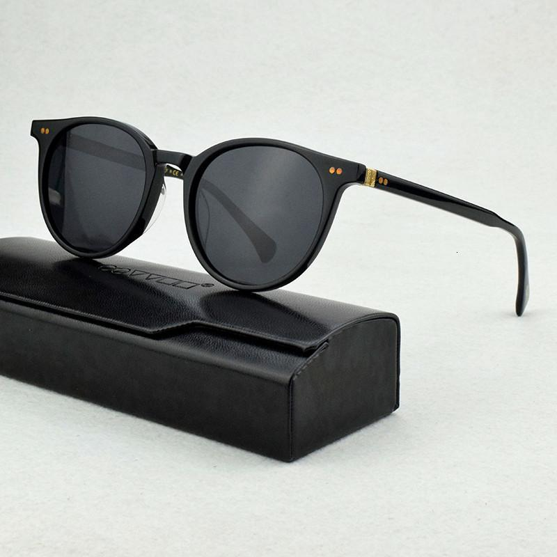 Polarize Güneş Gözlüğü Erkekler 2021 Retro Lüks Marka Tasarımcısı Vintage Güneş Gözlükleri Klasik Sürücü Yuvarlak Kadınlar Için OV5318