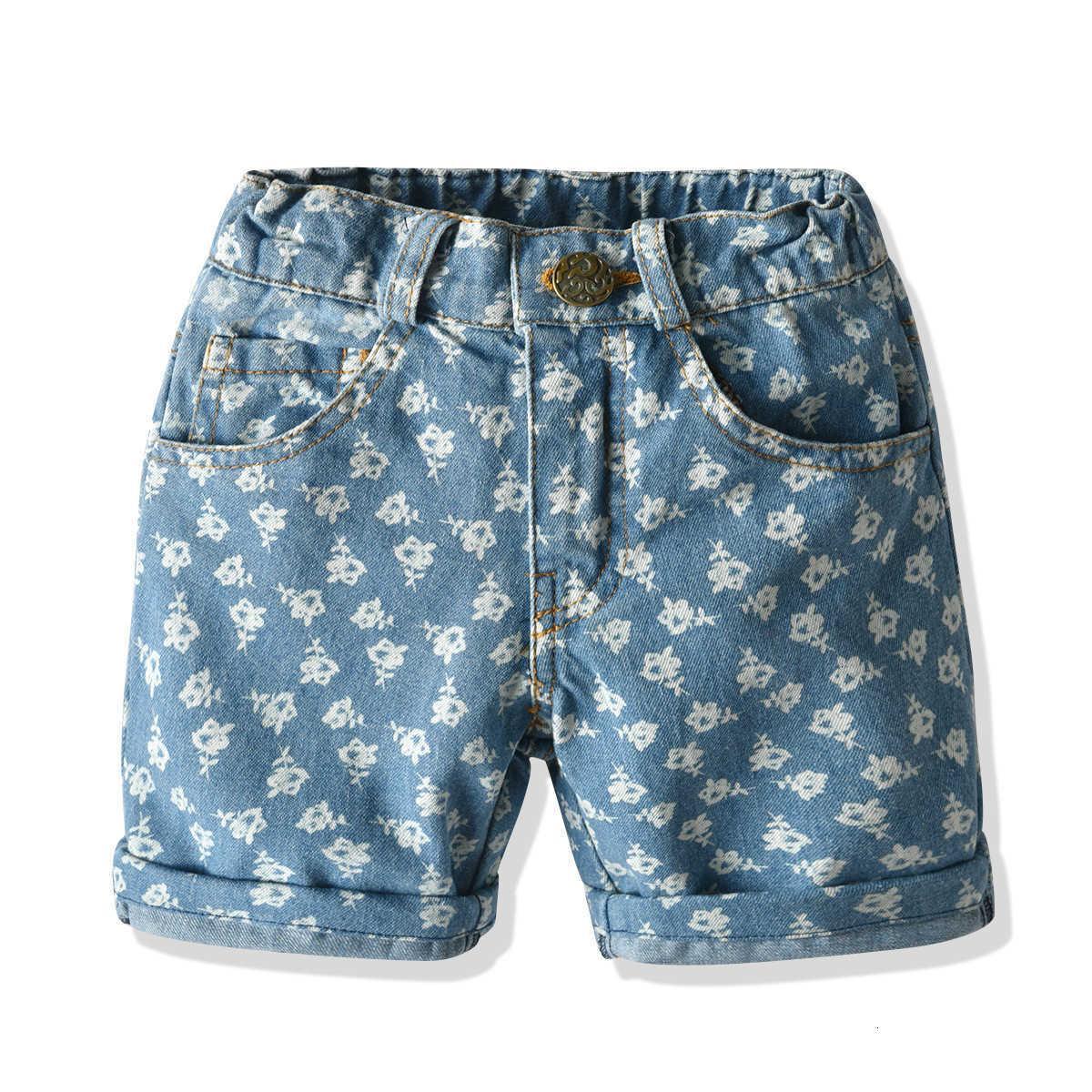 Kinder Jungen Baby gedruckt Baumwolle Denim Shorts Sommer Casual Hosen