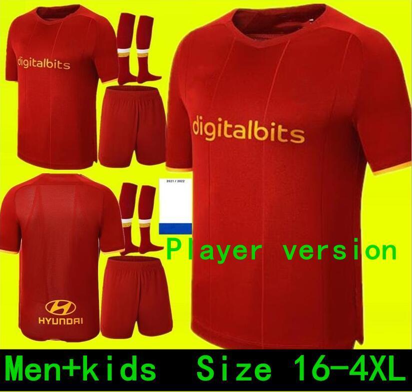 لاعب نسخة قمم Manciini Verêtout B. Mayoral 2021 2022 Totti de Rossi as Dzeko Soccer Jerseys روما 21 22 قمصان كرة القدم مجموعات أطقم الاطفال